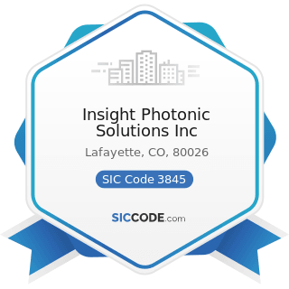 Insight Photonic Solutions Inc - SIC Code 3845 - Electromedical and Electrotherapeutic Apparatus