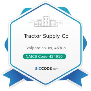 Tractor Supply Co - NAICS Code 424910 - Farm Supplies Merchant Wholesalers
