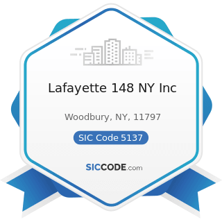 Lafayette 148 NY Inc - SIC Code 5137 - Women's, Children's, and Infants' Clothing and Accessories