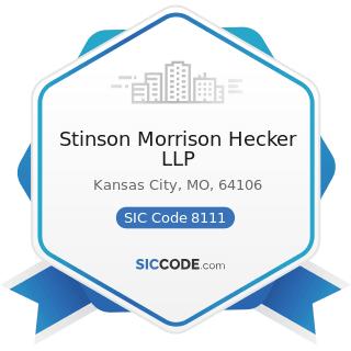 Stinson Morrison Hecker LLP - SIC Code 8111 - Legal Services