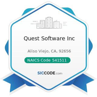 Quest Software Inc - NAICS Code 541511 - Custom Computer Programming Services