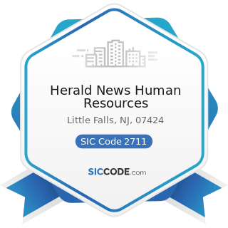 Herald News Human Resources - SIC Code 2711 - Newspapers: Publishing, or Publishing and Printing