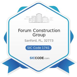 Forum Construction Group - SIC Code 1741 - Masonry, Stone Setting, and Other Stone Work