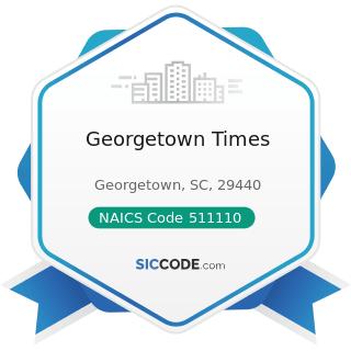 Georgetown Times - NAICS Code 511110 - Newspaper Publishers