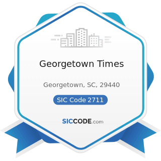 Georgetown Times - SIC Code 2711 - Newspapers: Publishing, or Publishing and Printing
