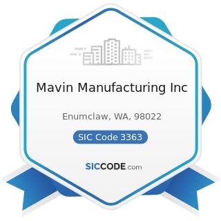 Mavin Manufacturing Inc - SIC Code 3363 - Aluminum Die-Castings