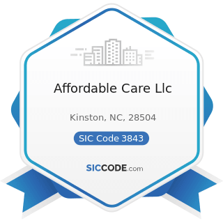 Affordable Care Llc - SIC Code 3843 - Dental Equipment and Supplies