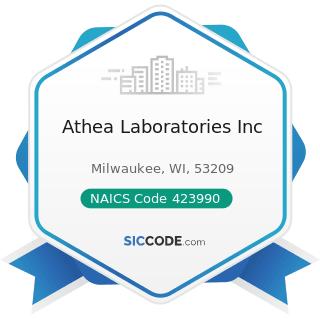 Athea Laboratories Inc - NAICS Code 423990 - Other Miscellaneous Durable Goods Merchant...