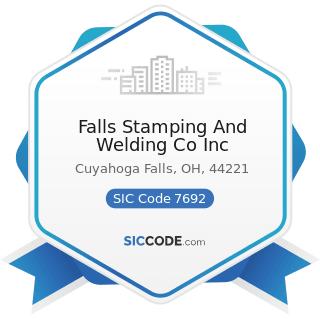 Falls Stamping And Welding Co Inc - SIC Code 7692 - Welding Repair