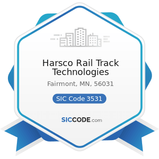 Harsco Rail Track Technologies - SIC Code 3531 - Construction Machinery and Equipment