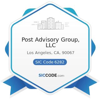 Post Advisory Group, LLC - SIC Code 6282 - Investment Advice