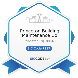 Princeton Building Maintenance Co - SIC Code 7217 - Carpet and Upholstery Cleaning
