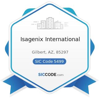 Isagenix International - SIC Code 5499 - Miscellaneous Food Stores
