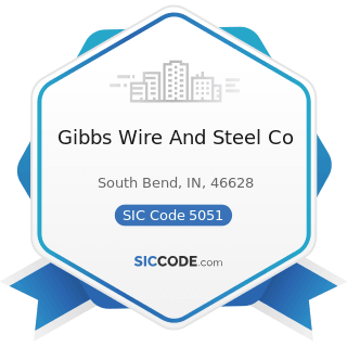 Gibbs Wire And Steel Co - SIC Code 5051 - Metals Service Centers and Offices