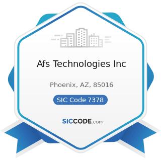 Afs Technologies Inc - SIC Code 7378 - Computer Maintenance and Repair