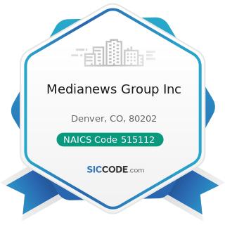 Medianews Group Inc - NAICS Code 515112 - Radio Stations