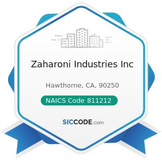 Zaharoni Industries Inc - NAICS Code 811212 - Computer and Office Machine Repair and Maintenance