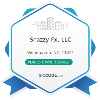 Snazzy Fx, LLC - NAICS Code 339992 - Musical Instrument Manufacturing