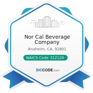 Nor Cal Beverage Company - NAICS Code 312120 - Breweries