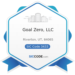 Goal Zero, LLC - SIC Code 3433 - Heating Equipment, except Electric and Warm Air Furnaces