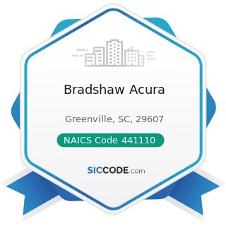 Bradshaw Acura - NAICS Code 441110 - New Car Dealers