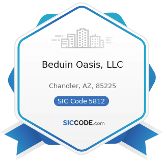 Beduin Oasis, LLC - SIC Code 5812 - Eating Places