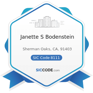 Janette S Bodenstein - SIC Code 8111 - Legal Services
