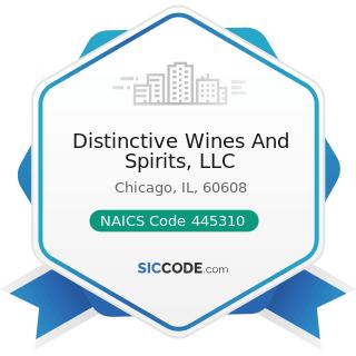Distinctive Wines And Spirits, LLC - NAICS Code 445310 - Beer, Wine, and Liquor Stores