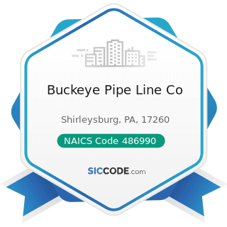 Buckeye Pipe Line Co - NAICS Code 486990 - All Other Pipeline Transportation