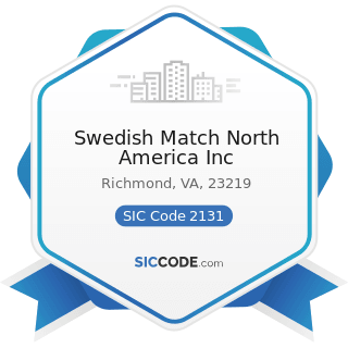 Swedish Match North America Inc - SIC Code 2131 - Chewing and Smoking Tobacco and Snuff