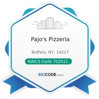 Pajo's Pizzeria - NAICS Code 722511 - Full-Service Restaurants