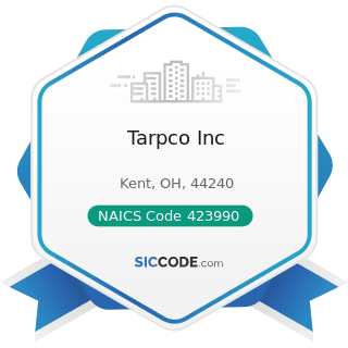 Tarpco Inc - NAICS Code 423990 - Other Miscellaneous Durable Goods Merchant Wholesalers