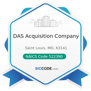 DAS Acquisition Company - NAICS Code 522390 - Other Activities Related to Credit Intermediation