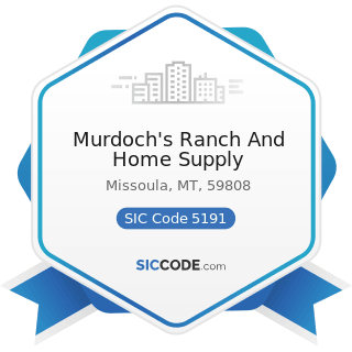Murdoch's Ranch And Home Supply - SIC Code 5191 - Farm Supplies