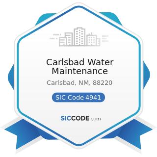 Carlsbad Water Maintenance - SIC Code 4941 - Water Supply