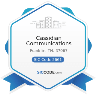 Cassidian Communications - SIC Code 3661 - Telephone and Telegraph Apparatus