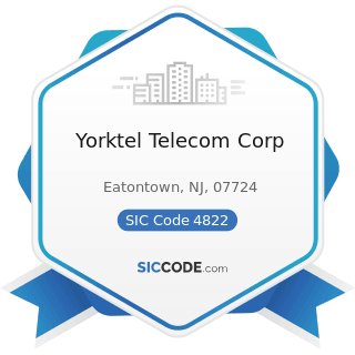 Yorktel Telecom Corp - SIC Code 4822 - Telegraph and other Message Communications