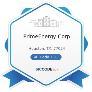 PrimeEnergy Corp - SIC Code 1311 - Crude Petroleum and Natural Gas