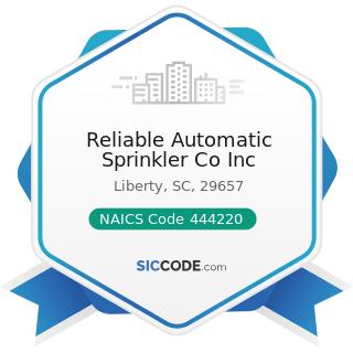 Reliable Automatic Sprinkler Co Inc - NAICS Code 444220 - Nursery, Garden Center, and Farm...