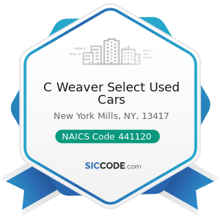 C Weaver Select Used Cars - NAICS Code 441120 - Used Car Dealers