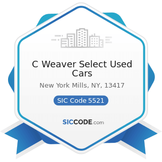 C Weaver Select Used Cars - SIC Code 5521 - Motor Vehicle Dealers (Used Only)