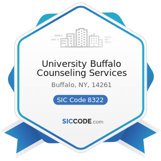 University Buffalo Counseling Services - SIC Code 8322 - Individual and Family Social Services