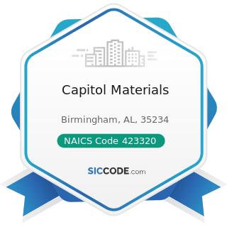 Capitol Materials - NAICS Code 423320 - Brick, Stone, and Related Construction Material Merchant...