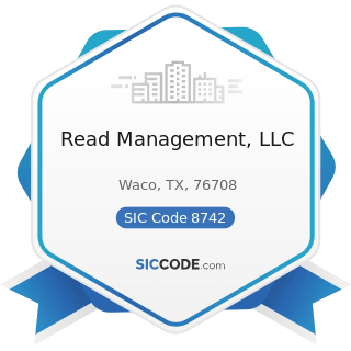 Read Management, LLC - SIC Code 8742 - Management Consulting Services