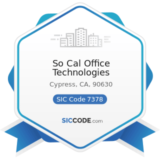 So Cal Office Technologies - SIC Code 7378 - Computer Maintenance and Repair