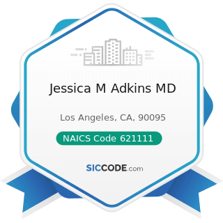 Jessica M Adkins MD - NAICS Code 621111 - Offices of Physicians (except Mental Health...