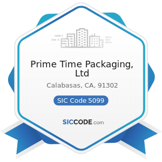 Prime Time Packaging, Ltd - SIC Code 5099 - Durable Goods, Not Elsewhere Classified