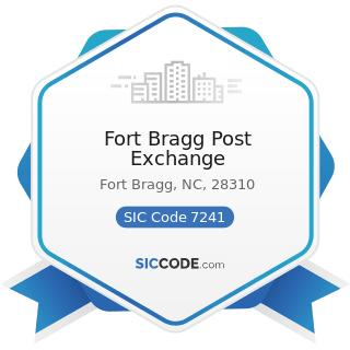 Fort Bragg Post Exchange - SIC Code 7241 - Barber Shops
