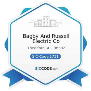 Bagby And Russell Electric Co - SIC Code 1731 - Electrical Work