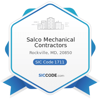 Salco Mechanical Contractors - SIC Code 1711 - Plumbing, Heating and Air-Conditioning